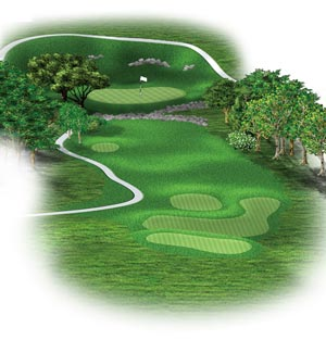 Hole #8 – On The Rocks Rendering
