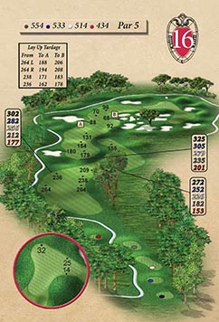 Hole #16 – Bunkered Rendering